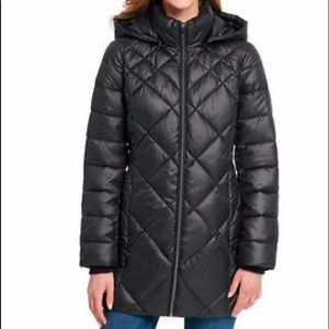 Ladies midi puffer jacket